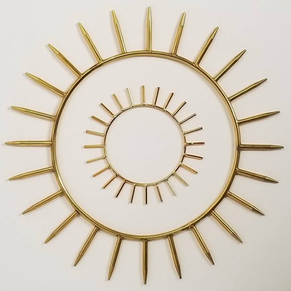 Krystaline 4 inch and 9 inch Sun Rings for sale by Linda Easthouse
