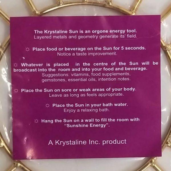 Krystaline Sun Rings description